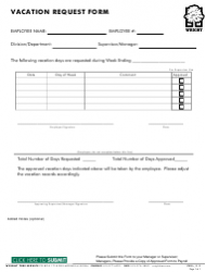Vacation Request Form - Wright Tree Service