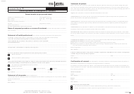 "Form HWZ0803S ""Consent Form 1 - Patient Agreement to Investigation or Treatment"" - United Kingdom"