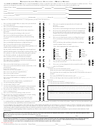 Preparticipation Physical Evaluation Form - Medical History