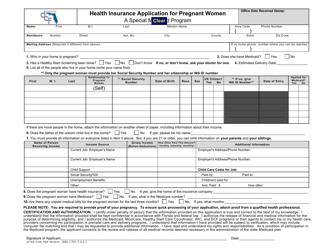 "Form CF-ES2700 ""Health Insurance Application for Pregnant Women"" - Florida"