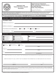 """Form 74 """"Request for Texas National Guard Records"""" - Austin, Texas"""