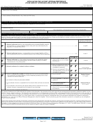 "Form SF-15 ""Application for 10-point Veteran Preference"""