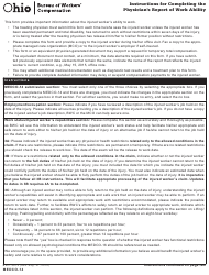 "Form 14 ""Physician's Report of Work Ability"" - Ohio"