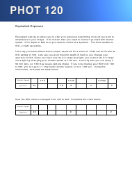 Equivalent Exposure Worksheet