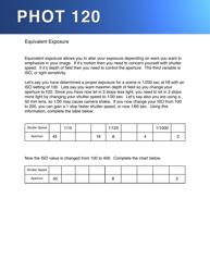 Equivalent Exposure Worksheet