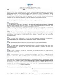FDVA Form VP-1 Veterans' Preference Certification - Florida