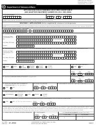 VA Form 21-4502 Application for Automobile or Other Conveyance and Adaptive Equipment