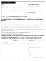 "Official Form 309B ""Notice of Chapter 7 Bankruptcy Case - Proof of Claim Deadline Set"""