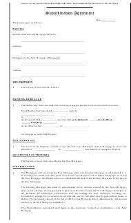 """Subordination Agreement Template"""