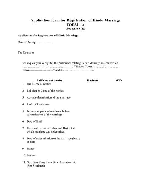 Form A Download Printable PDF, Application Form for Registration of