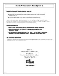 "WSIB Form 8 ""Health Professional's Report"" - Ontario, Canada"