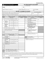 VA Form 21P-4706B VA Fiduciary's Account