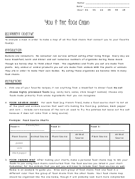 """You & the Food Chain Biology Worksheet - Oakman School"""