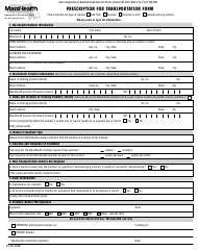 "Form PT-1 ""Prescription for Transportation Form"" - Massachusetts"