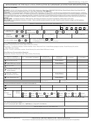SECNAV Form 5512/1 Department of the Navy Local Population Id Card/Base Access Pass Registration