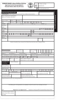 """Form W5 """"Application Form for Housing Subsidy for Plantation Workers (Other Than Ne Sector)"""" - India"""