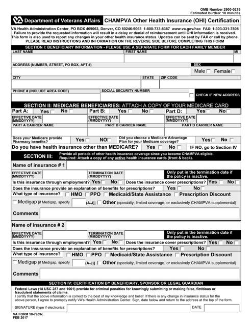 VA Form 10-7959c Fillable Pdf