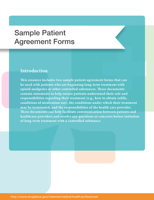 """""""Sample Patient Agreement Forms"""" Download Pdf"""