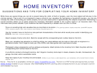 """Home Inventory Spreadsheet - Toledo Police"" - Toledo (Spain), Spain"