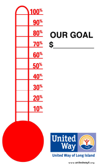"""Thermometer Goal Chart - United Way of Goal Island"""