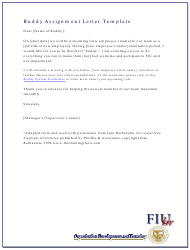 """Buddy Assignment Letter Template - Fiu"""