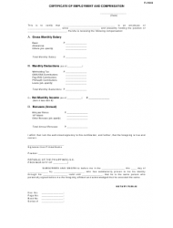 Certificate of Employment and Compensation Form