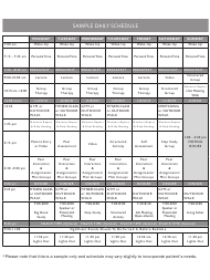 Sample Daily Schedule for Aa Members
