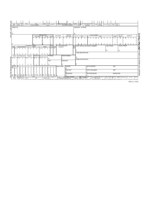 DA Form 2765-1  Fillable Pdf