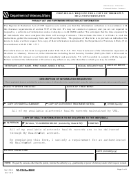 VA Form 10-5345a-mhv Individuals' Request for a Copy of Their Own Health Information