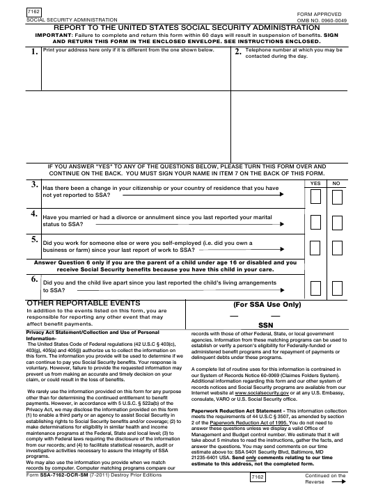 Form 7162 Fillable Pdf