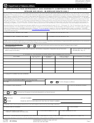 "VA Form 21-534A ""Application for Dependency and Indemnity Compensation by a Surviving Spouse or Child - in-Service Death Only"""
