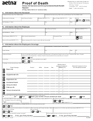 "Form gc-1373 ""Proof of Death - Aetna"" - Kentucky"