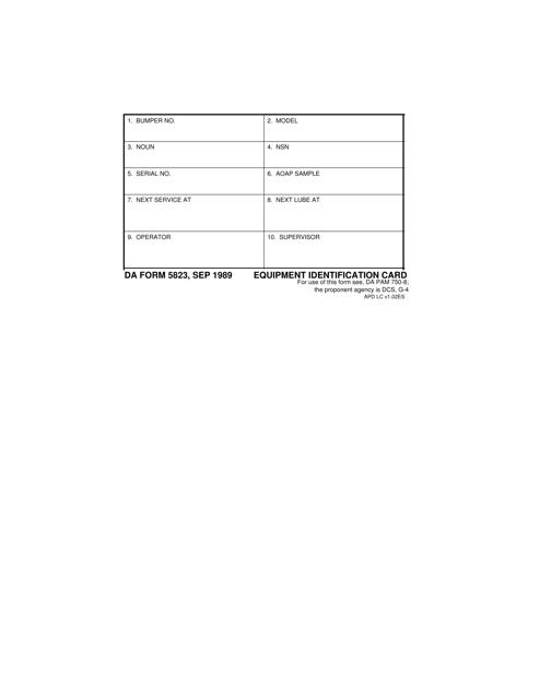 DA Form 5823 Fillable Pdf