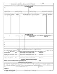 DA Form 3964 Classified Document Accountability Record
