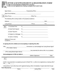 """Offer Acknowledgment & Registration Form - Long Island Multiple Listing Service Realtors"""