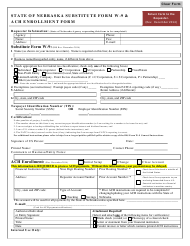 """State of Nebraska Substitute Form W-9 & Ach Enrollment Form"" - Nebraska"