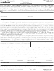 "Form HUD-92544 ""Warranty of Completion of Construction"""