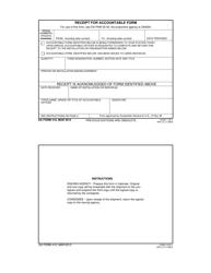 DA Form 410 Receipt for Accountable Form