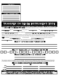 """Transfer on Death Instrument Form"""