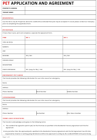 """Pet Application and Agreement Template"""
