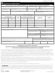 VA Form 21-8834 Application for Reimbursement of Headstone or Marker Expense
