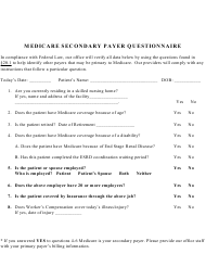 """Medicare Secondary Payer Questionnaire Template"""