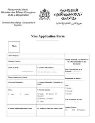 """Morocco Visa Application Form"" - Morocco"