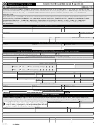 "VA Form 10-7959e ""Claim for Miscellaneous Expenses"""