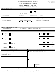 "CBP Form 3461 ""Entry/Immediate Delivery"""