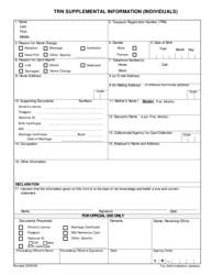 Trn Supplemental Information (Individuals)