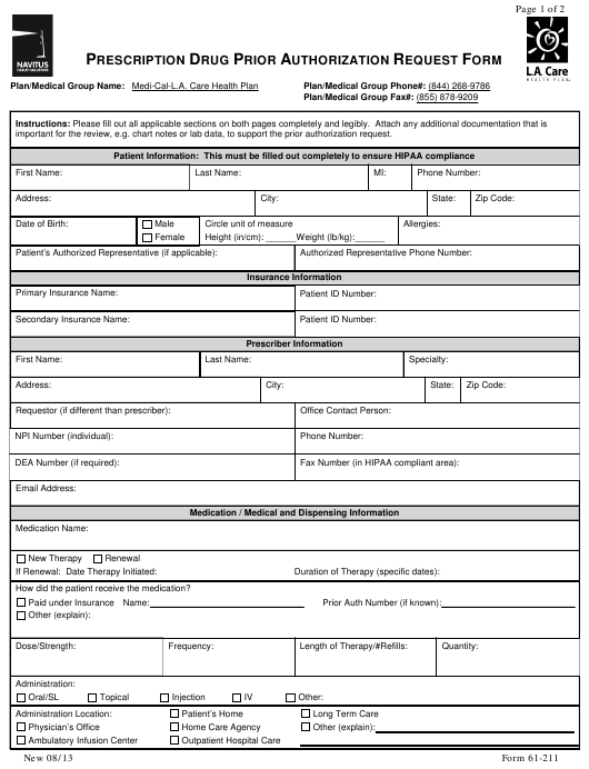 Medication Authorization Form Template from data.templateroller.com
