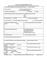 "CAP Form 17 ""Application for Senior Member Activities"""