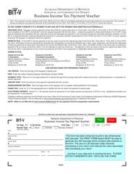 Form bit-v Business Income Tax Payment Voucher - Alabama