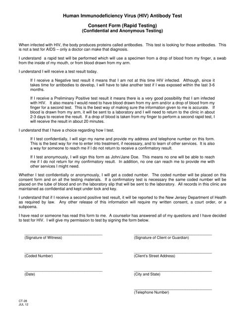Form CT-28  Printable Pdf